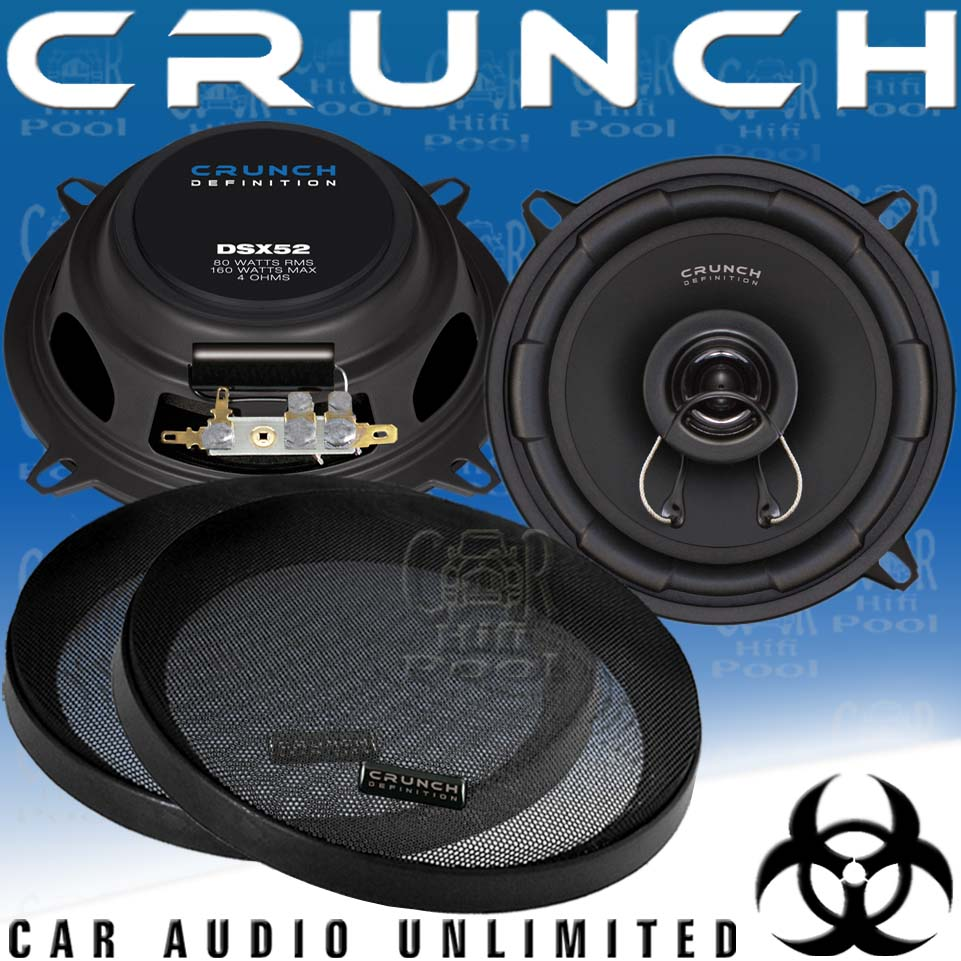b ware crunch dsx 52 2 wege 13cm koax flach lautsprecher. Black Bedroom Furniture Sets. Home Design Ideas