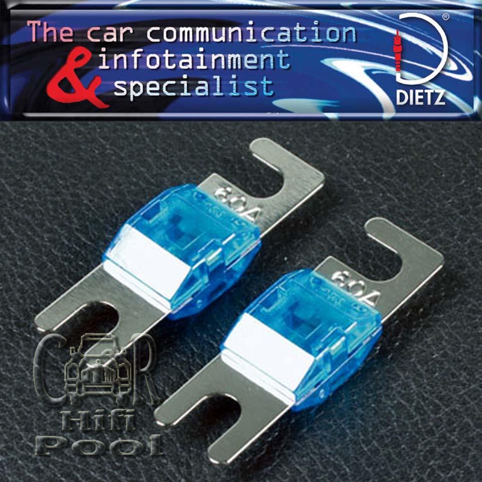 Dietz 2 Stk Mini-ANL Sicherungen 60 A Ampere